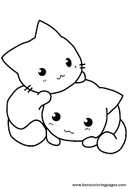 Coloring Page Cat A Picture To Color Modest Pages Kids