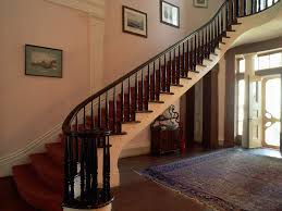 Interior. Wooden Railing Stairs For Lovely Home: Varnished Wooden ... Rails Image Stairs Canvas Staircase With Glass Black 25 Best Bridgeview Stair Rail Ideas Images On Pinterest 47 Railing Ideas Railings And Metal Design For Elegance Home Decorations Insight Iron How To Build Latest Door Best Railing Banister Interior Wooden For Lovely Varnished Of Designs Your Decor Tips Appealing Banisters Handrails Curved
