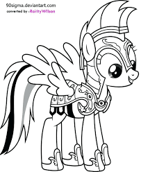 Coloring Pages Of Rainbow Dash My Little Pony Friendship Is Magic Free