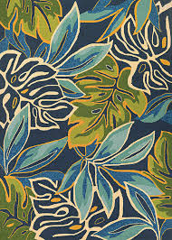 Covington 4361 0671 Areca Palms Azure Forest Green Area Rug by