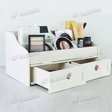 plain white wooden desk organizer victor wood letter tray inside