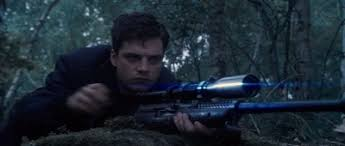 Sebastian Stan Holds An M1941 Johnson Rifle As Bucky In Captain America The First Avenger 2011