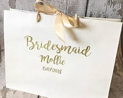 Bridesmaid Gift Bag Proposal Wedding Maid Of Honour Mother The Bride Father