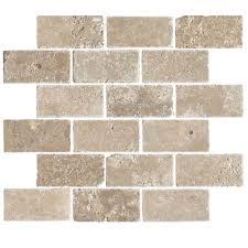 florida tile pietra travertine mosaic 2 x 4 noce
