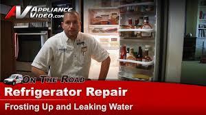 Kenmore Ice Maker Leaking Water On Floor by Refrigerator Repair Frosting U0026 Leaking Water Kitchenaid