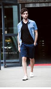 2015 Men Brand Casual Shorts Summer New Fashion 100 Cotton Male Short Knee Length Trousers High Quality Free Shipping In From Mens Clothing