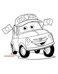 Disney Pixars Cars Coloring Pages
