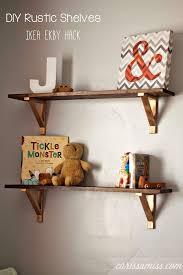 DIY Rustic Shelves Ikea EKBY Hack