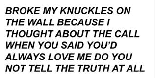 mine Black and White depressed sad lyrics writing Band poem this