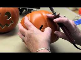 Fake Carvable Foam Pumpkins by Carving Foam Pumpkins With The Creative Versa Tool Youtube