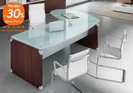 bureau direction verre bureau direction bois et verre avec métal modèle bench 02