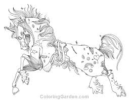 Free Printable Zombie Unicorn Adult Coloring Page Download It In PDF Format At