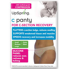 UpSpring Classic Waist C Section Recovery Underwear Nude Small