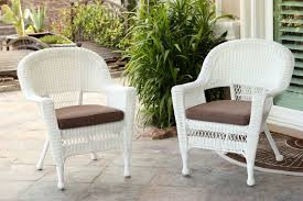 Set Of 2 White Resin Wicker Outdoor Patio Garden Chairs - Mocha Brown  Cushions - 31556260 Details About Outdoor Patio Lounge Chair Cushioned Weatherproof Polypropylene Resin Brown New Restaurant Fniture Wicker Ding Tables And Chairs Garden 2 Arm 1 Coffee Table Rattan Sofa Yard Set Gradient Us Stock Exciting White America Luxury Modern Contemporary Urban Design Dark Ideas Rialto 5piece Cast Alinum Black Sand 12 Top Gracious Living Photos Get Ready For Summer Danetti Lifestyle Classic Adirondack Rocker Assembly Required Polywood Coastal Folding Mahogany Kiwi Sling