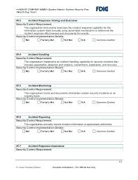 Information Security Incident Response Plan Template It Free Management Process