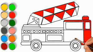 100 How To Draw A Fire Truck For Kids Ing And Coloring Pages YouTube