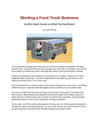 100 Starting Food Truck Business How To Start A By Frank Fleming Issuu