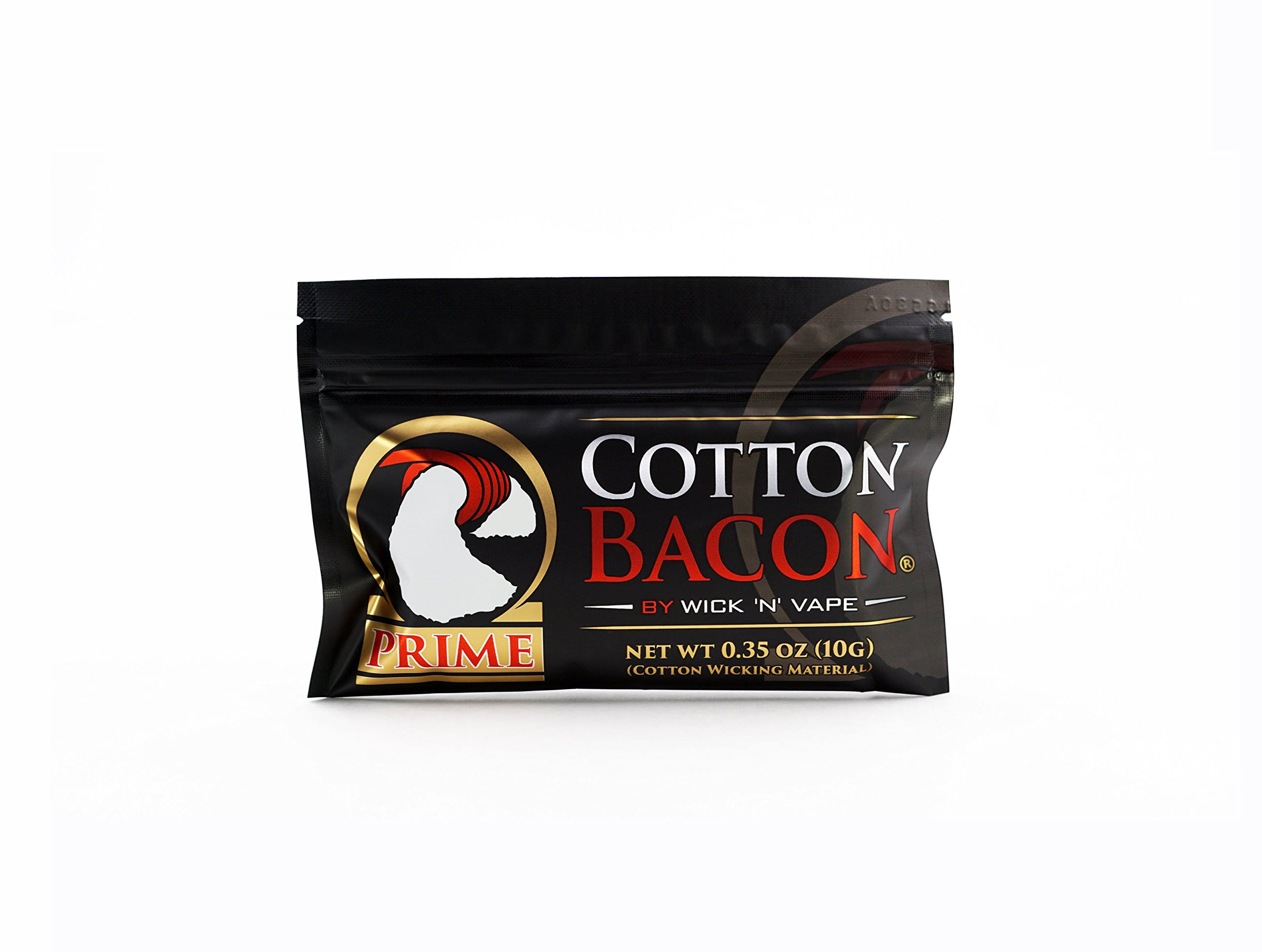 Cotton Bacon Prime by Wick 'n' Vape - Brand New Cotton Bacon - Super Absorbent
