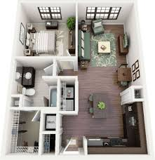 100 Small One Bedroom Apartments Tiny Studio Apartment Interior Design Ideas