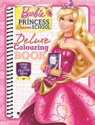 Barbie Princess Charm School Deluxe Colouring Book