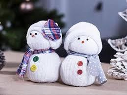 bricolage le bonhomme de neige en chaussette
