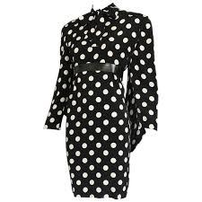 1987 pierre balmain haute couture silk polka dot dress w back