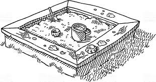 Sandbox Clipart Black And White