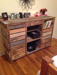 Entertainment Center Desk Made From Pallets