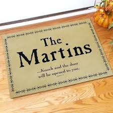 Personal Wel e Mats Personalised Door Mats Enormous Articles
