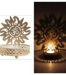 Buy DIVINE Holy OMM T Light Festive Gift Shadow Diya WITH WAX DIYA Housewarming