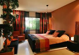 Bedroom Amazing Brown And Orange Ideas Intended For Wonderful
