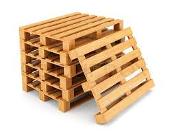 Stack Of Wooden Pallets Isolated On White Background Cargo Shipping And Warehouse Concept