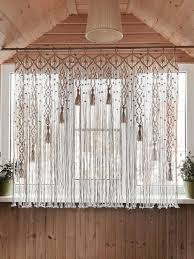 best 11 kitchen macrame curtains bohemian curtain by