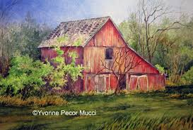 Watercolor Painting | Yvonne Pecor Mucci | Page 2 Barn Wikipedia Heart Native Son The Shrine Barns Of Richland County Area History Why Are Traditionally Painted Red Youtube 25 Unique Patings Ideas On Pinterest Pottery Barn Paint Best Garage Door Cedar A Survey Upstater 230 Best Watercolor Old Buildings Images And Style Sheds Leonard Truck Accsories House That Looks Like Red At Home In The High