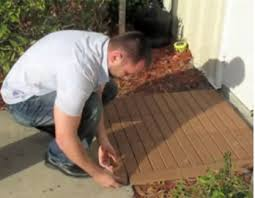 how to order and install patio deck tiles