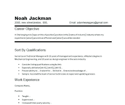 Samples Of Objectives For A Resume Possible Resumes Career Objective Examples