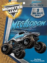 100 Monster Truck Decals Jam Megalodon 9 Stickers For Cell Phone Etsy