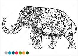 Elephant Mandala Coloring Page