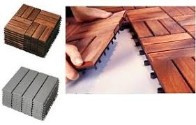Image Is Loading Ikea RUNNEN Wooden Floor Decking Tiles Brown Stained
