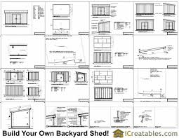 10x16 lean to shed plans icreatables com