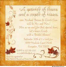 Bridal Shower Qoutes by Classic Wedding Invitations For You Autumn Wedding Invitation Quotes