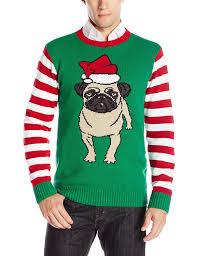 Kohls Christmas Tree Lights by Ugly Christmas Sweater Men U0027s Pug At Amazon Men U0027s Clothing Store