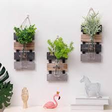rustikale kreative hause holz wand hydrokultur pflanzen vase container wohnzimmer schlafzimmer wand dekoration hängen
