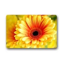 Memory Home Novelty Design Custom Daisy Washable Floral Doormat Indoor Bath Kitchen Decor Area Rug 400mmx600mm