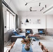 beton fliesen holz wohnzimmer puristisch einrichten