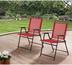 Details About Patio Folding Sling Back Chair Camping Deck Garden Beach  Patio Set Of 2