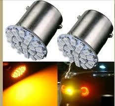 2 x 22 smd led bike indicator light bulb l for honda