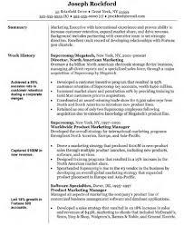 Marketing Manager Resume Objective Joseph Rockford