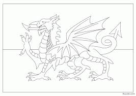 Flag Scotland Coloring Pages Book Wales Large