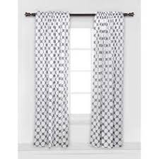Tommy Hilfiger Curtains Mission Paisley by Tommy Hilfiger Cabana Stripe Gray White Grey 2pc Window Curtain